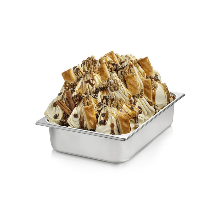 Italian gelato ingredients | Ice cream products | Buy online | APPLE PIE CREAM Rubicone on Crunchy cream