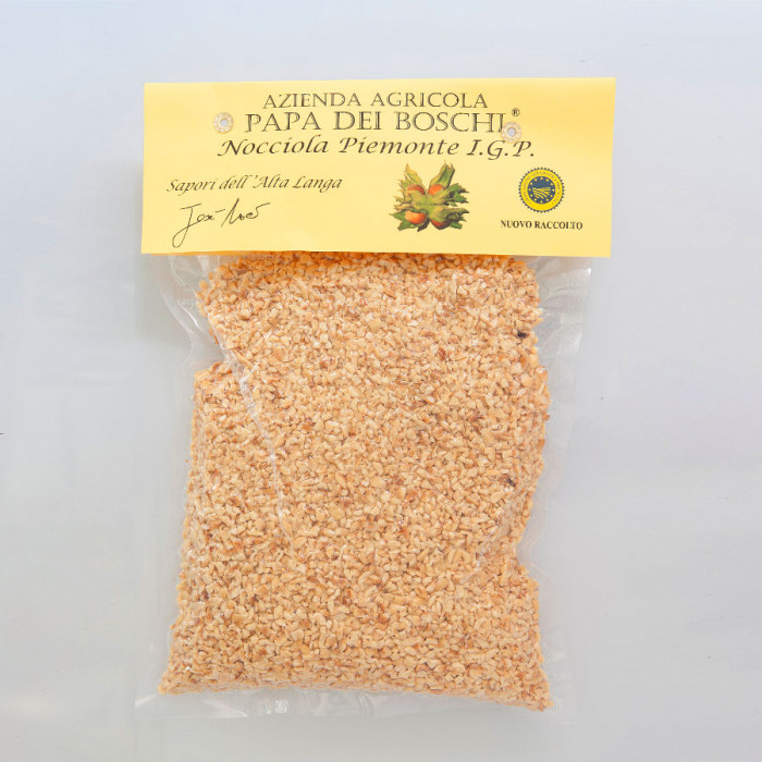 Prodotti per gelateria | Acquista online su Gelq.it | GRANELLA DI NOCCIOLA TOSTATA IGP PIEMONTE di Papa dei Boschi. Frutta secca