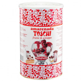 Italian gelato ingredients | Ice cream products | Buy online | CHERRIES 18/20 (6 X 2.75 KG) Toschi Vignola on Fruit ripples