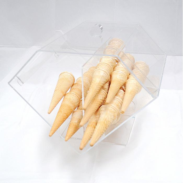 Prodotti per gelateria | Acquista online su Gelq.it | PORTACONI PLEXIGLASS DA BANCO ORIZZONTALE  Gelq Accessories in Accessori d