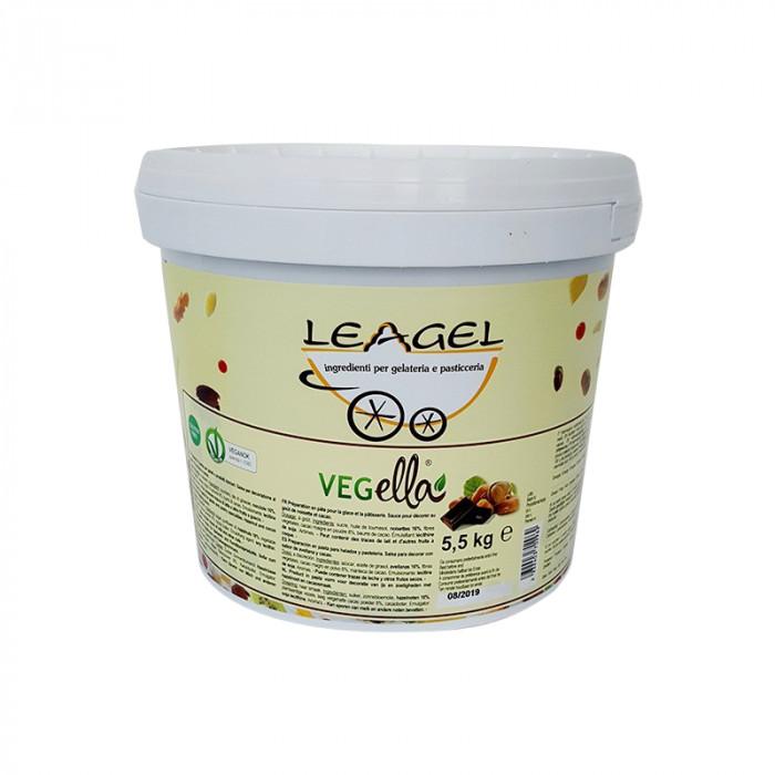 Acquista online su Gelq.it | VARIEGATO VEGELLA di Leagel. Crema di nocciola per gelato certificata Vegan OK.