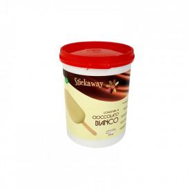 Gelq.it | STICKAWAY WHITE CHOCOLATE - COVERING Leagel | Italian gelato ingredients | Buy online | Coverings