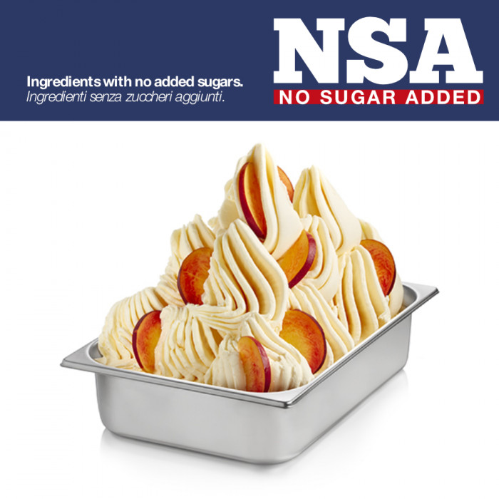Gelq.it   BASE READY YELLOW PEACH NSA - LIGHT & MILK FREE Rubicone   Italian gelato ingredients   Buy online   Complete fruit ic