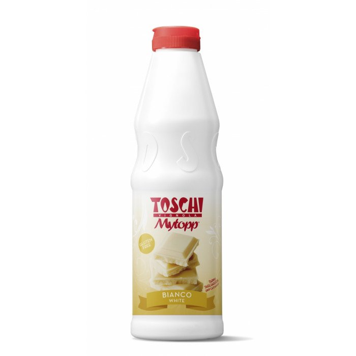Prodotti per gelateria   Acquista online su Gelq.it   TOPPING BIANCO (CIOCCOLATO BIANCO) di Toschi Vignola. Topping per gelato.