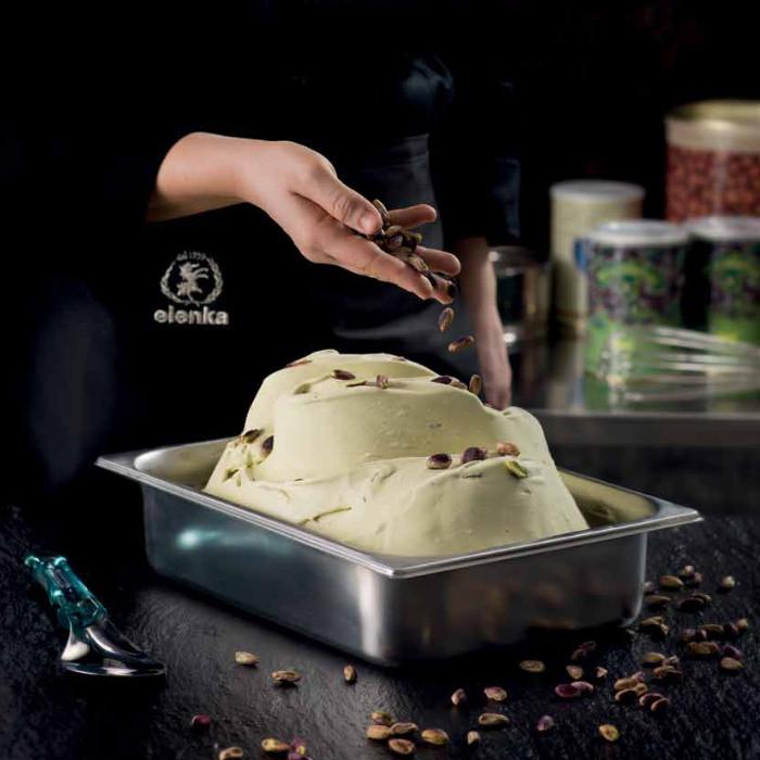 Buy online on Gelq.it | PISTACHIO OROVERDE PASTE Elenka | Italian gelato ingredients | Nuts ice cream pastes Elenka