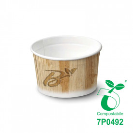 135 ML BIO GELATO PAPER CUPS MOD.95 - COMPOSTABLE