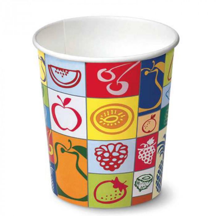 Buy online on Gelq.it   940 ML GELATO BUCKET MOD. S94 - TUTTI FRUTTI   Made in Italy Gelato paper cups and buckets
