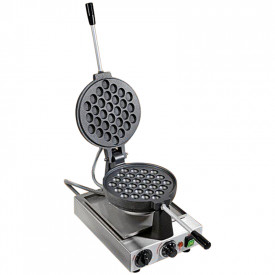 BUBBLE WAFFLE MACHINE - CAST IRON - 1400W