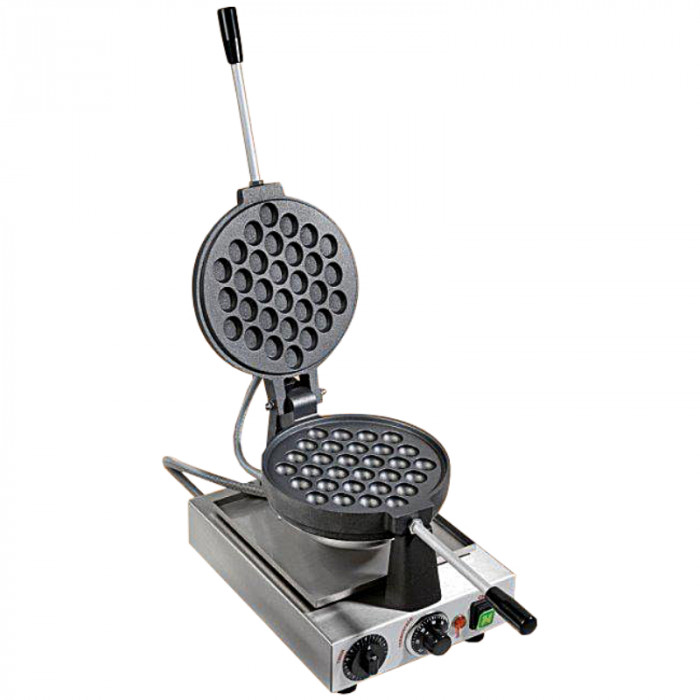 Buy online on Gelq.it | BUBBLE WAFFLE MACHINE - CAST IRON - 1400W | Professional HORECA equipment. Made in Italy.