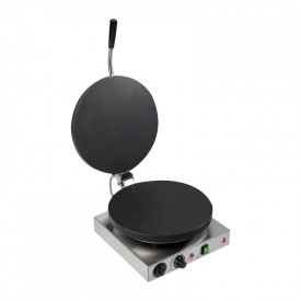 CAST IRON CREPES MACHINE - ELECTRIC - 30 CM. WITH COVER - 2400W