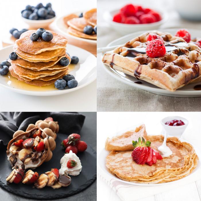 Acquista online su Gelq.it | MIX UNICO BILANCIATO PER CREPES - WAFFLE - CIALDE - BUBBLE WAFFLE E PANCAKE di Techfood | Preparati