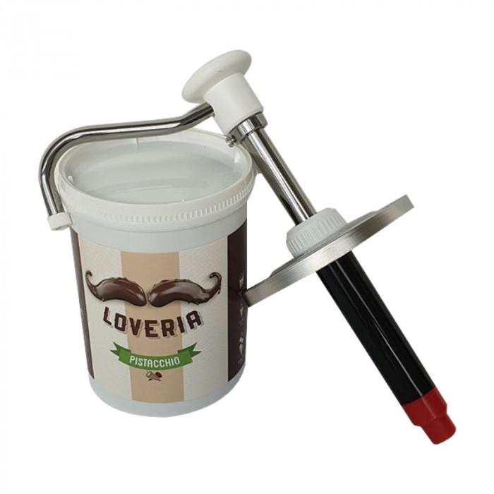 Acquista online su Gelq.it | DISPENSER LOVERIA BARATTOLO IN ACCIAIO di Leagel | Crema per farcitura, crepes, waffles, pancake.