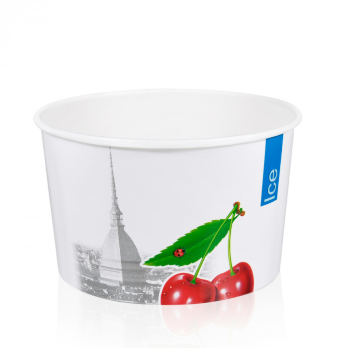 Gelq.it | GELATO PAPER CUP MD4 ICE & CITY Medac | Italian gelato ingredients | Buy online | Gelato paper cups