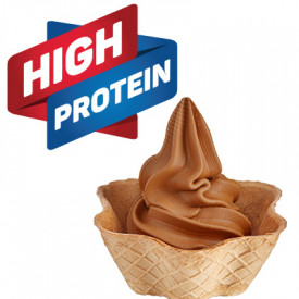 Gelq.it | BASE SOFT HIGH PROTEIN CARAMEL Rubicone | Italian gelato ingredients | Buy online | Soft serve ice cream bases