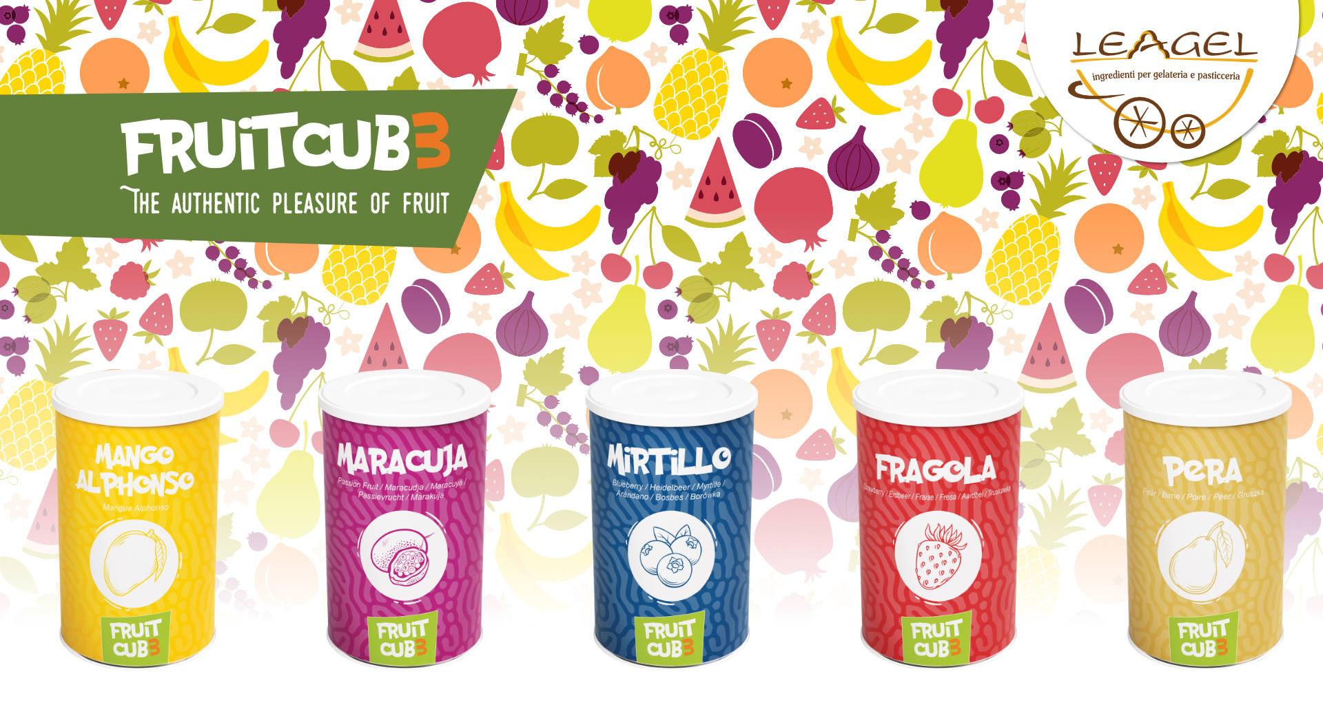 Fruitcub3 di Leagel, gelato alla frutta, smoothies e tanto altro.