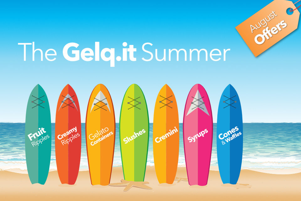 Your summer of creams and ripple sauces, only on Gelq.it