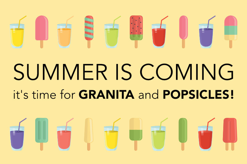 Granita, Popsicle and many ideas for your ice-cream shop this June !